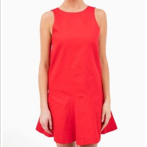 Timeless Red lined a line shift dress
